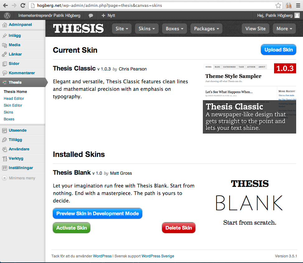 customizing thesis theme